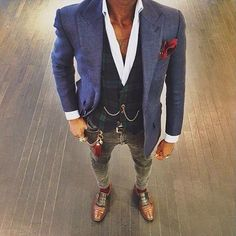 Style is an art Smart Casual Men, Stylish Men, Gents Suits, Mode Outfits, Fashion Outfits, Looks Style, My Style, Gilet Costume, Look Man