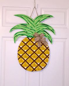 Door Hanger   Wood Cut Out   Pineapple. This Adorable Pineapple Can Be  Changed To