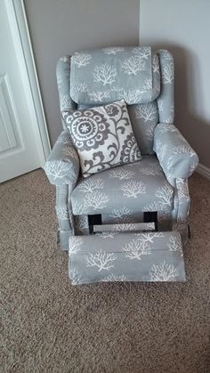 So, friends. This chair. Let me just tell you a little story about this chair. This was a surprise Mother's Day gift back when my olde...