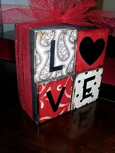 I love letter blocks! So fun to change for every holiday or season!