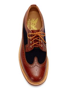 Leather and Wool Wingtips