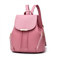 aa2ae364ba7c Women PU Leather Bags Backpacks Bookbags School for Teen Girls - Pink -  C3183G6R9RQ - Women s