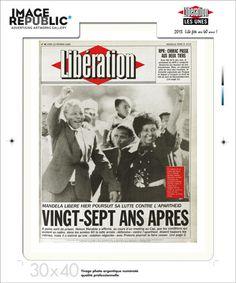 Une 30x40 cm - Nelson Mandela - Tirage photographique professionnel