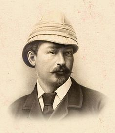 Emil Holub Czech traveller, author of the first map of Victoria Falls. His works about Zambie and Zimbabwe are valued even today. Map Of Victoria, Victoria Falls, Victorian London, Victorian Era, Pith Helmet, Mother Family, World Famous, Zimbabwe, Czech Republic