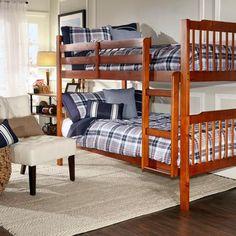 Elise Bunk Bed, Mahogany - Walmart.com