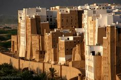 These are the 500 year old, eight storey high, adobe homes of Shibam in Yemen…
