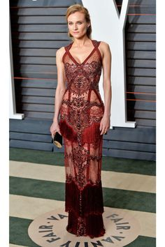 Diane Kruger Shows Skin in Sheer Gown at Oscars 2016 Party: Photo Diane Kruger looks sleek and sexy while stepping out at the 2016 Vanity Fair Oscar Party hosted By Graydon Carter at the Wallis Annenberg Center for the Performing… Diane Kruger, Beautiful Dresses, Nice Dresses, Gorgeous Dress, Sheer Gown, Mode Blog, Trend Fashion, Tokyo Fashion, Vanity Fair Oscar Party