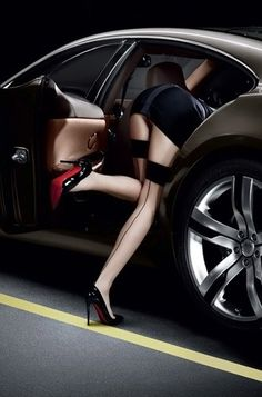 Brilliant marketing: Louboutins looking for something in the back seat #advertising #imageads #ads