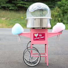 Carnival King CCM21CT Cotton Candy Machine With 21 Stainless Steel Bowl And Cart