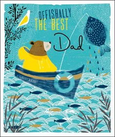 NEW!! The perfect #Birthday card for the oFISHal best Dad