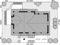 Unique Country House Plan With Four Bedrooms And Three Bathrooms - House And Decors Four Bedroom House Plans, Porch House Plans, Bungalow House Plans, Modern House Plans, Office Building Architecture, Modern Architecture House, Classic House Design, Modern House Design, Modern Architectural Styles
