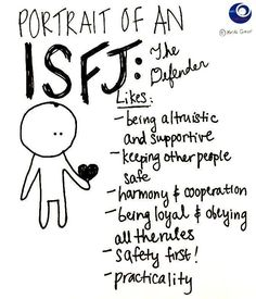 ISFJ (Introvert, Dear)