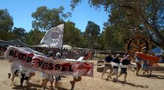 Henley On Todd Regatta in Alice Springs, Northern Territory Australia – Dry River Bed Racing!