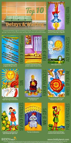 "The #universe has three #answers for those who want something more. ""No,"" ""Not yet,"" and ""I have something better in store."" These #Tarot cards can help you understand what the universe is telling you while you wait for your ship to come in. Download your free copy of my Top 10 Tarot Cards for love, finances, career, life purpose and so much more at http://www.biddytarot.com/admin/top-10-tarot-cards-ebook It's my gift to you!"