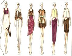 Fashion Portfolio II - Art and Fashion Portfolio  many sketches