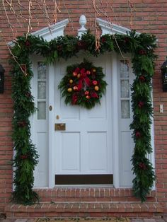 Christmas Door Decorating