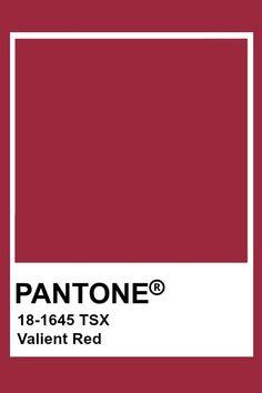 Pantone Valient Red Pantone Red, Pantone Swatches, Pantone Colour Palettes, Color Swatches, Pantone Color, Red Colour Palette, Colour Schemes, Red Color, Material Board