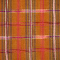 Orange Pink Semi Sheer Plaid, 1970s Vintage, Yarn Dyed Fashion Fabric, Lightweight Rayon, half yard, B10 by DartingDogFabric on Etsy