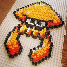 Squid Splatoon hama beads by marcusgavinbaker