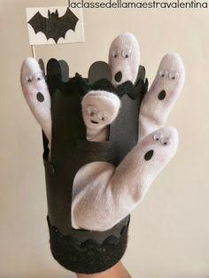 Marioneta de dedos. Convierte tu mano en un castillo encantado! Solo necesitas un guante blanco, un rotulador negro y una cartulina