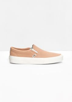 & Other Stories | Vans Leather Slip-On Shoes can't wait until they arrive... :)