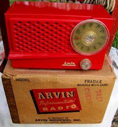 Arvin Radio Deco Mid Century C 1951 M 741T Stunning Working Original 4 Tube Set | eBay