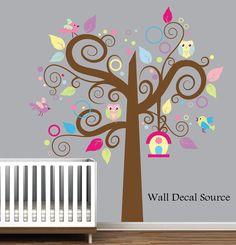 Swirly Tree Wall Decal $99.00