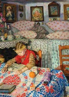 'Nel salotto', Izsák Perlmutter  (1866 – 1932)