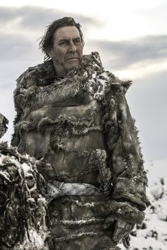 Ciaran Hinds as Mance Rayder in Season 3 of Game of Thrones. I like to think that if I were designing for series TV it would look just like this.