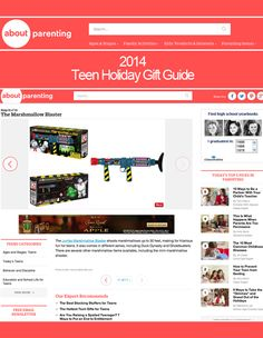 It is a HUGE honor to be in the 2014 Teen Holiday Gift Guide by About.com Parenting this year!!   Who you going to call? #Ghostbusters ! #gift