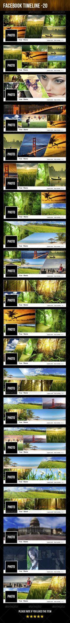 20 Facebook Timeline - Mega Pack - Facebook Timeline Covers Social Media