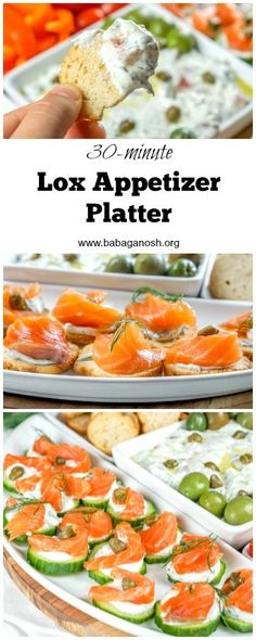 Lox Appetizer Platter - ready in 30 minutes and only uses a few ingredients. Use my homemade lox recipe to make the smoky salmon!