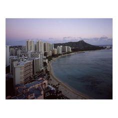 Shop Waikiki Beach , Hawaii Paperweight created by Pretty_Backgrounds. Honolulu Shopping, Honolulu Oahu, Waikiki Beach, Pretty Backgrounds, Freedom Design, Beach Landscape, Aerial View, Ocean, Island