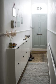 Great way to use a small hallway space!