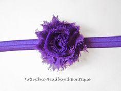 Purple baby headband: baby headbands, newborn headband, infant headband, toddler headband, childrens headband