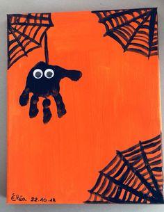 Tableau d'halloween - school outfits Theme Halloween, Homemade Halloween Decorations, Easy Halloween Crafts, Halloween Poster, Halloween Activities, Cute Halloween, Halloween Canvas Paintings, Halloween Painting, Halloween Pictures