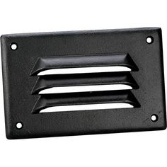 Progress Lighting P6817-31 25W Incandescent Louver Faceplate Over Glass Step Light in Black