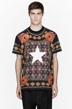 Givenchy Brown Center Star Target Shirt for men | SSENSE