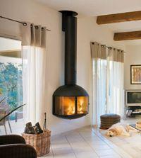 Wall Mounted Focus | Custom Fireplace Design - Edofocus 850, Large 180 Degree View Fireplace