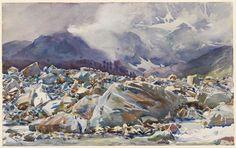 John Singer Sargent, Simplon Pass: Avalanche Track, 1911.