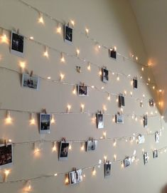 Fairy lights and polaroids fairy lights on wall, fairy lights photos,