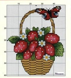 1 million+ Stunning Free Images to Use Anywhere Cross Stitch Fruit, Cross Stitch Kitchen, Cross Stitch Cards, Cross Stitch Rose, Cross Stitch Flowers, Cross Stitching, Hardanger Embroidery, Cross Stitch Embroidery, Cross Stitch Patterns
