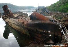 Cementerio Nezametnaya Cove, la península de Kola, en Rusia-Google
