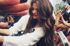 Selena Gomez with carmel high lights