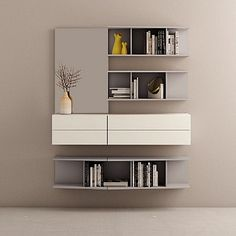 Contemporary Furniture Modern Designer Bookcase Wall