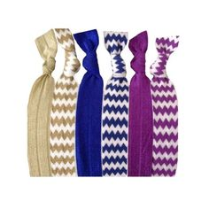 Amazon.com: Active Accessories On-The-Go #Hair Band #Bracelets - 6 hairties in a pack. Turn your bracelet into a hair tie. #Chevron