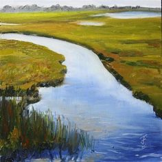 """Wetlands"" - Original Fine Art for Sale - © Jane Frederick"