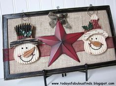 Today's Fabulous Finds: One Frame For Every Season Could use snowflakes and get J and Y's to spell out JOY.