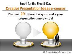 Free e-course to make presentations more visual!