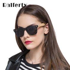 Retro Bamboo Sunglasses Women Men Mirrored Wooden Frame Sun Glasses
